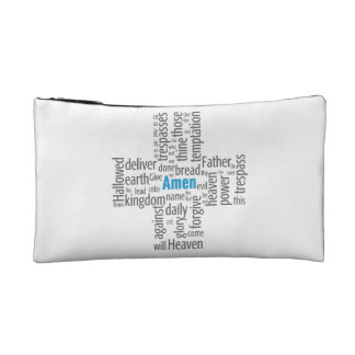 Lord's Prayer Word Cloud Cosmetic Bag