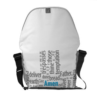 Lord's Prayer Word Cloud Courier Bag
