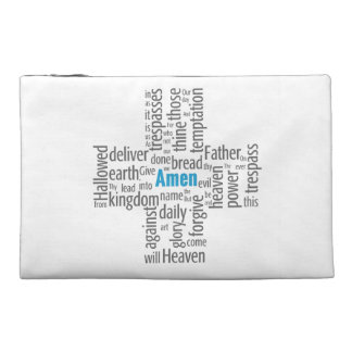 Lord's Prayer Word Cloud Travel Accessories Bags