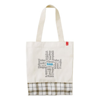 Lord's Prayer Word Cloud Zazzle HEART Tote Bag