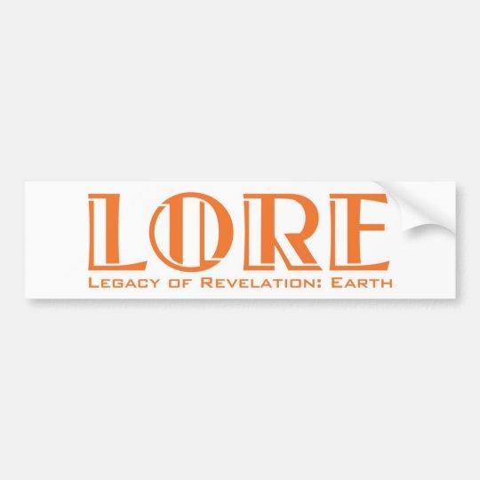 LORE Bumper Sticker