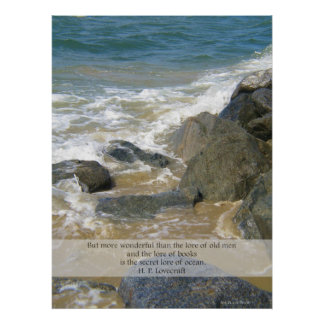 Lore of Ocean quote - Newport Beach scene Print