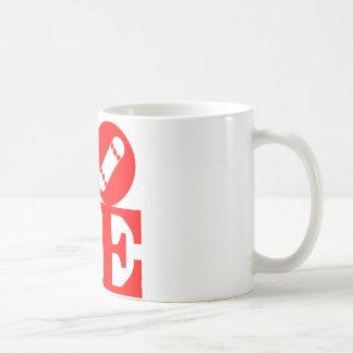Lore skate deck red coffee mug