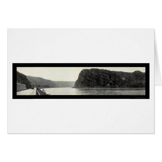 Lorelei Rhine River Photo 1921 Card