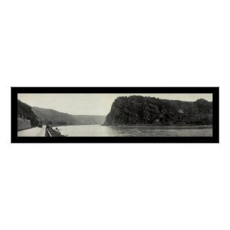 Lorelei Rhine River Photo 1921 Poster