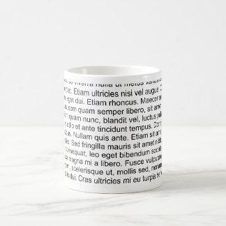 lorem ipsum blind text dummy text coffee mug