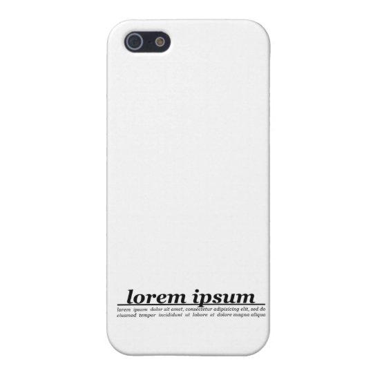 Lorem Ipsum Case For iPhone SE/5/5s