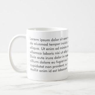Lorem ipsum dolor sit amet mug