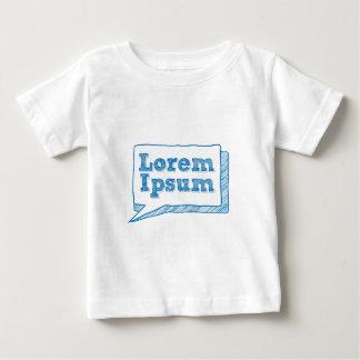 lorem ipsum, handwritten text in scribble frame baby T-Shirt