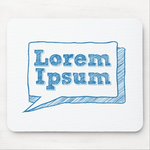 lorem ipsum, handwritten text in scribble frame mouse pad
