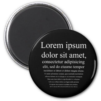 Lorem Ipsum Imán Redondo 5 Cm
