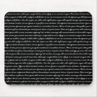 Lorem Ipsum - negro Tapete De Ratones