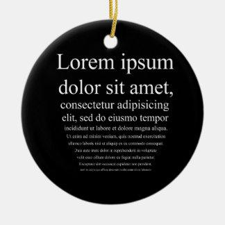 Lorem Ipsum Christmas Ornaments