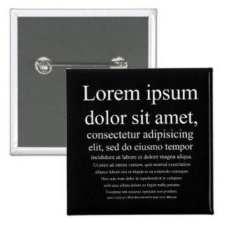 Lorem Ipsum Pin Cuadrado