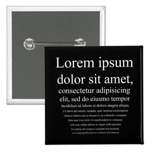 Lorem Ipsum Pins