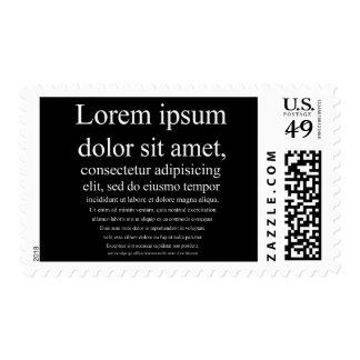 Lorem Ipsum Postage Stamp
