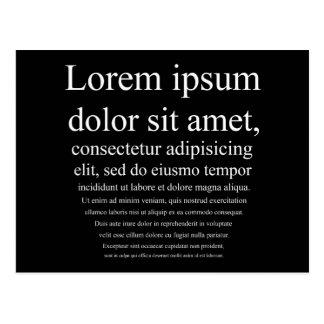 Lorem Ipsum Postcard