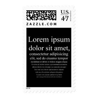 Lorem Ipsum Timbre Postal