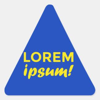 Lorem ipsum! triangle sticker