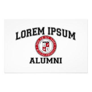 Lorem Ipsum University College Alumni Dummy Latin Stationery