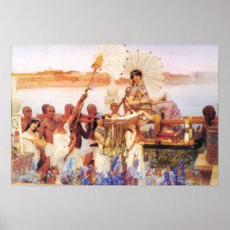 Lorenzo Alma Tadema el encontrar de Moses Poster