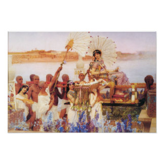 Lorenzo Alma Tadema el encontrar de Moses Póster