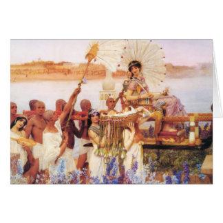 Lorenzo Alma Tadema el encontrar de Moses Tarjeta