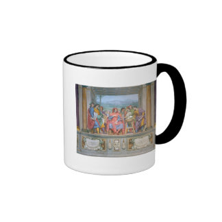 Lorenzo amongst the artists coffee mugs