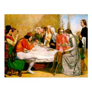 Lorenzo and Isabella by John Everett Millais Postcard