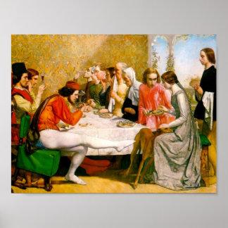 Lorenzo and Isabella by John Everett Millais Poster