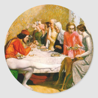 Lorenzo and Isabella by John Everett Millais Classic Round Sticker
