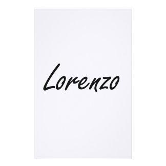 Lorenzo Artistic Name Design Stationery