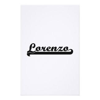 Lorenzo Classic Retro Name Design Stationery