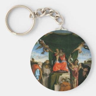 Lorenzo Loteria-Madonna con ángeles y santos Llavero Personalizado
