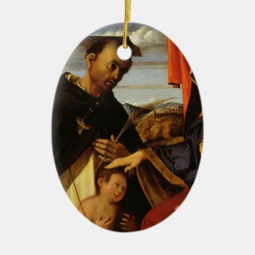 Lorenzo Loteria-Madonna y niño con el mártir de Sa Ornamentos De Reyes