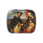 Lorenzo Loteria-Madonna y niño con el mártir de Sa Frascos De Dulces