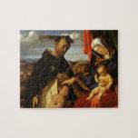 Lorenzo Loteria-Madonna y niño con el mártir de Sa Rompecabeza