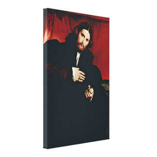 Lorenzo Lotto - A gentleman with gloves Portrait Gallery Wrapped Canvas