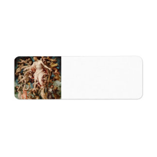 Lorenzo Lotto-Angel collecting blood from wounds Custom Return Address Labels