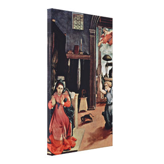 Lorenzo Lotto - Annunciation Stretched Canvas Print