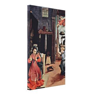 Lorenzo Lotto - Annunciation Canvas Prints