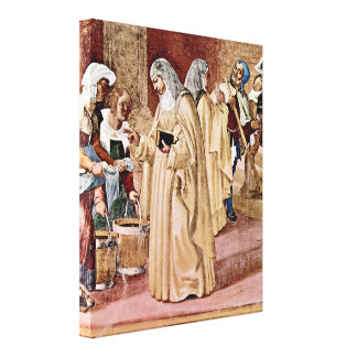 Lorenzo Lotto - Blessing of the St Clare Canvas Prints