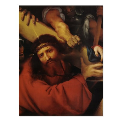 Lorenzo Lotto- Christ Carrying the Cross Postcard