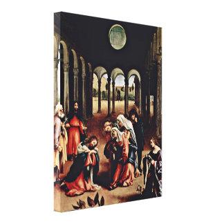 Lorenzo Lotto - Christs Farewell to Maria Canvas Print