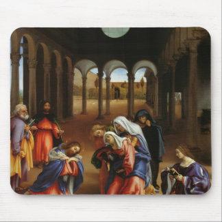 Lorenzo Lotto- Christ's farewell to Mary Mousepad