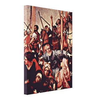 Lorenzo Lotto - crucifixion detail Canvas Prints
