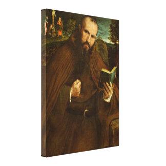 Lorenzo Lotto - Fra Gregorio Belo di Vicenza Gallery Wrap Canvas