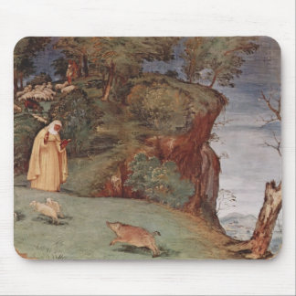 Lorenzo Lotto- Frescoes in the Oratory Suardi Mousepad