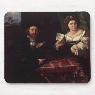 Lorenzo Lotto- Husband and Wife Mouse Pads