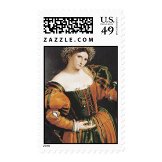 Lorenzo Lotto, Lady with a Drawing of Lucretia, 15 Postage Stamps